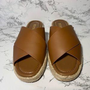 Michael Kors Linden Slides Brown Sandals